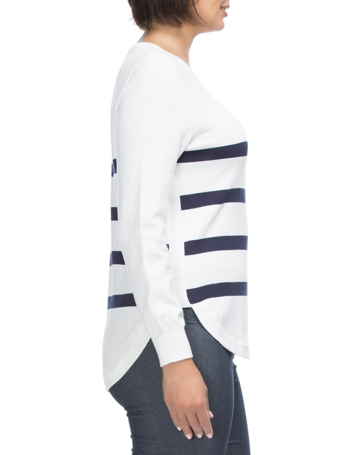 Long Sleeve Stripe Detail Jumper image 3