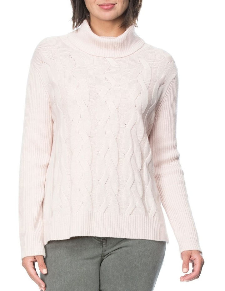 CABLE KNIT ROLL NECK JUMPER image 1