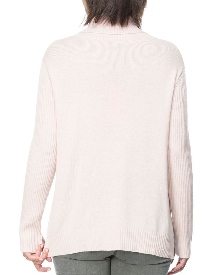 CABLE KNIT ROLL NECK JUMPER image 3