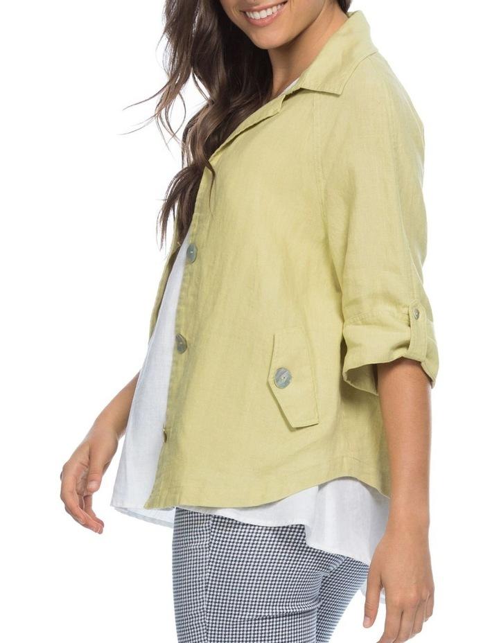 Tab Sleeve Detail Linen Jacket image 2