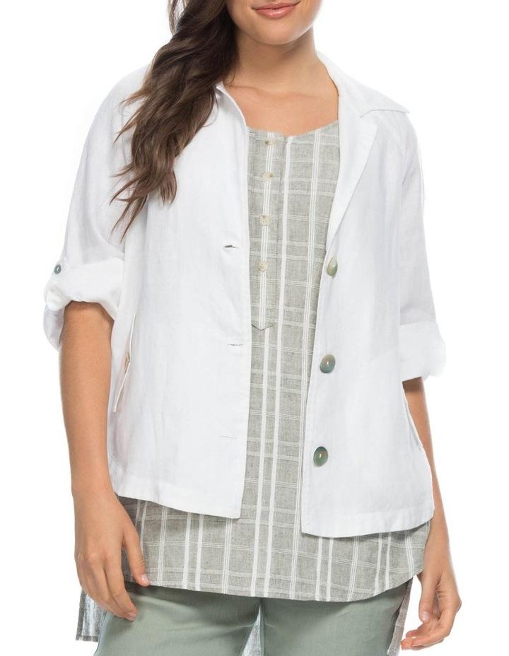 Tab Sleeve Detail Linen Jacket image 1