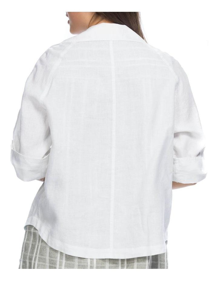 Tab Sleeve Detail Linen Jacket image 3