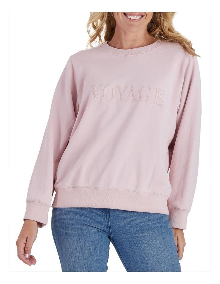 Voyage Embroidered Long Sleeve Sweatshirt image 1