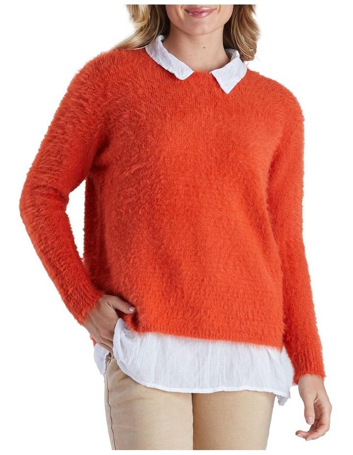 Long Sleeve Fluffy Knit Jumper image 1