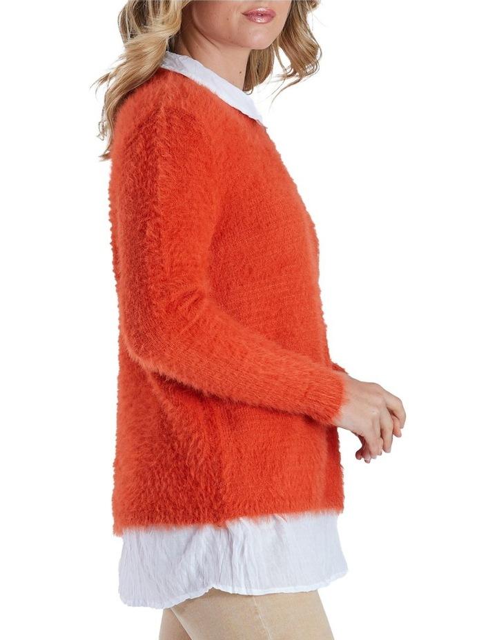 Long Sleeve Fluffy Knit Jumper image 2