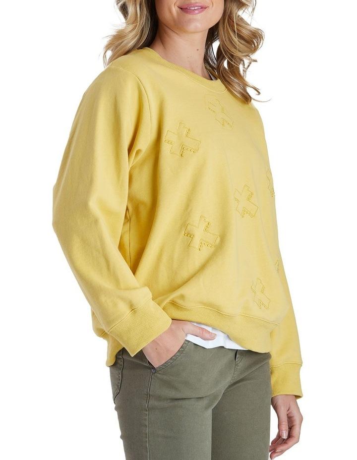 Long Sleeve Cross Embroidered Sweatshirt image 2