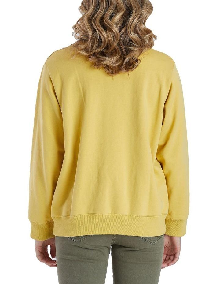 Long Sleeve Cross Embroidered Sweatshirt image 3