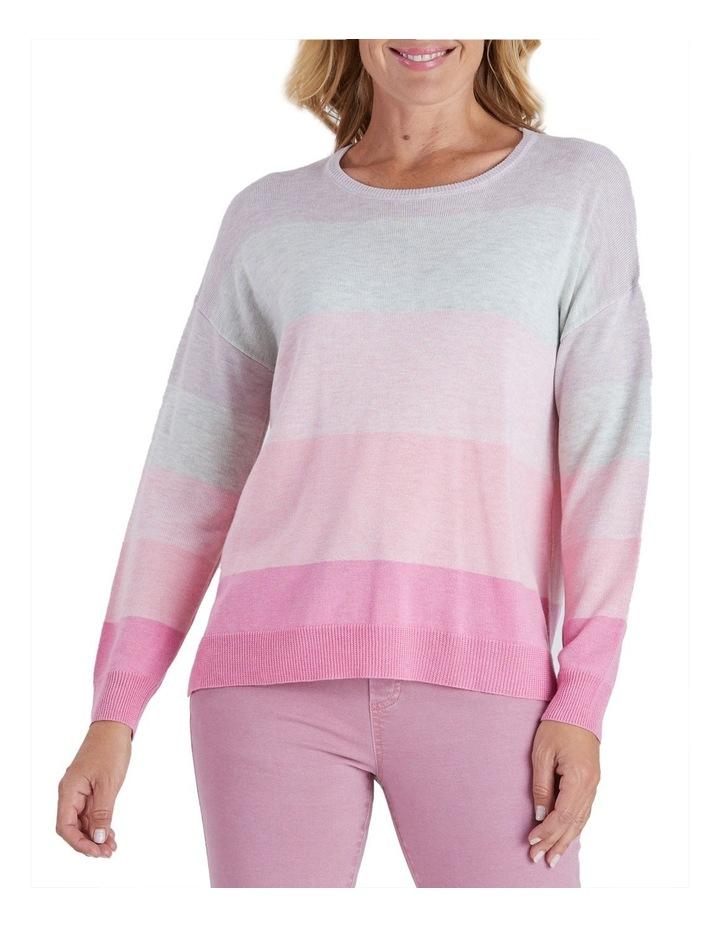 Colour Blocked Long Sleeve Knit Jumper image 1