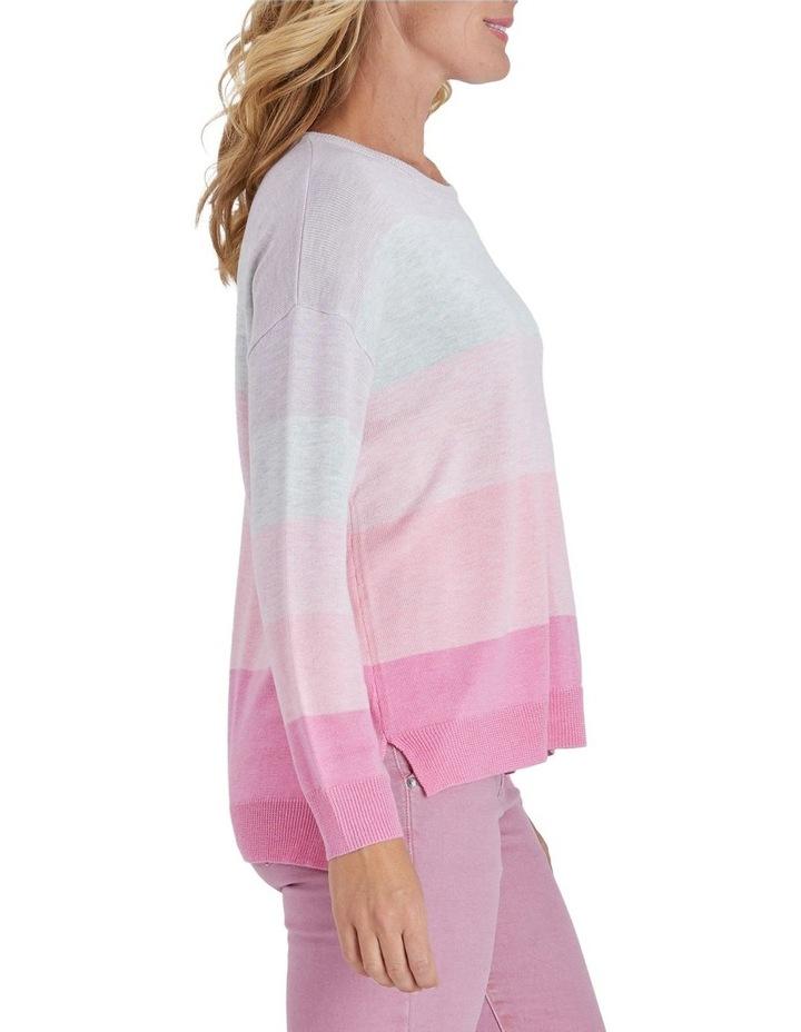 Colour Blocked Long Sleeve Knit Jumper image 2