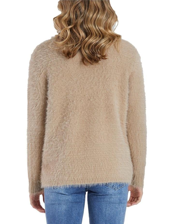 Long Sleeve Fluffy Knit Jumper image 3