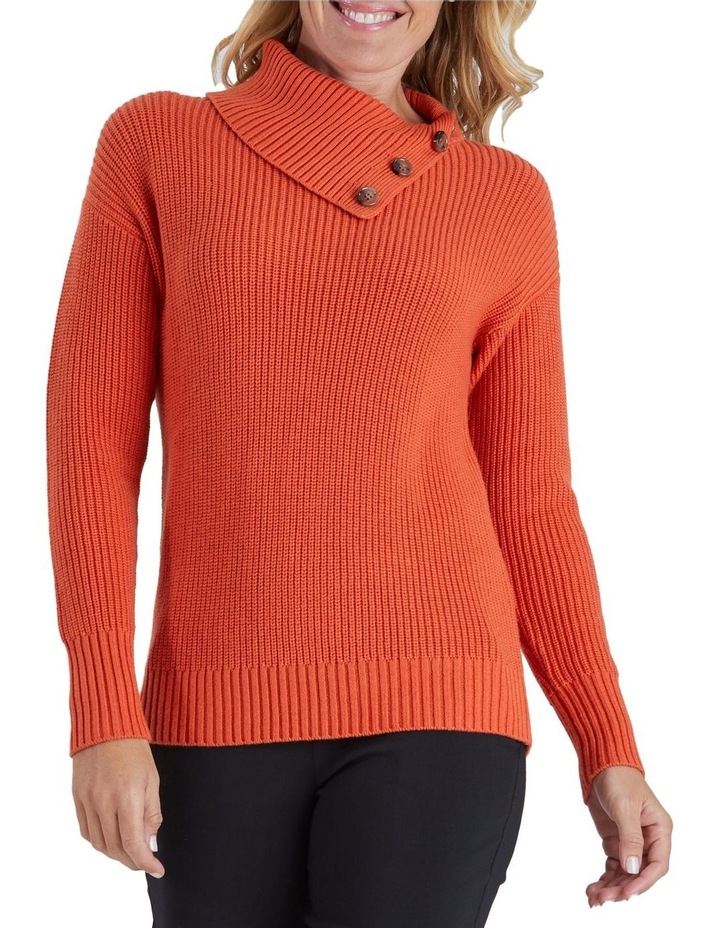 Button Detail Long Sleeve Knit Jumper image 1
