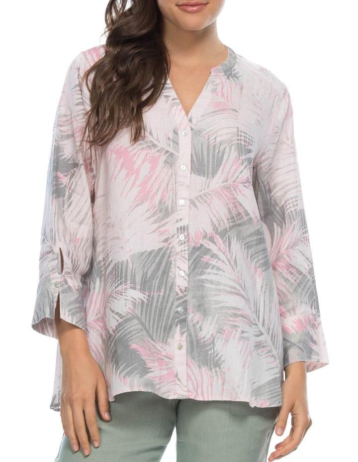 Palm Print Nehru Collar Shirt image 1