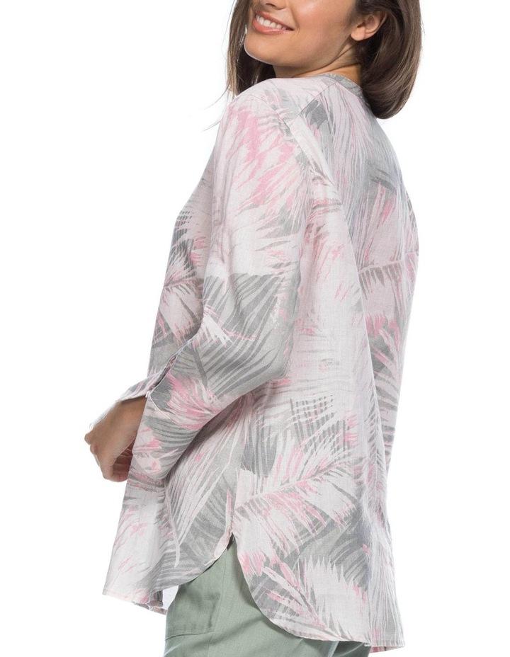 Palm Print Nehru Collar Shirt image 2