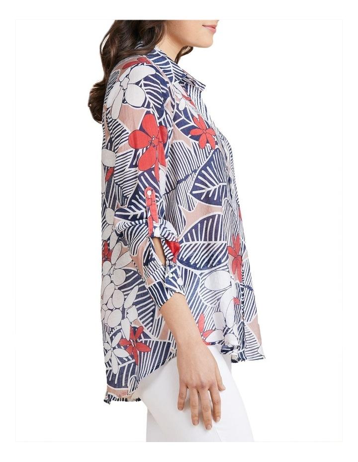 Floral Print Tab Sleeve Shirt image 2