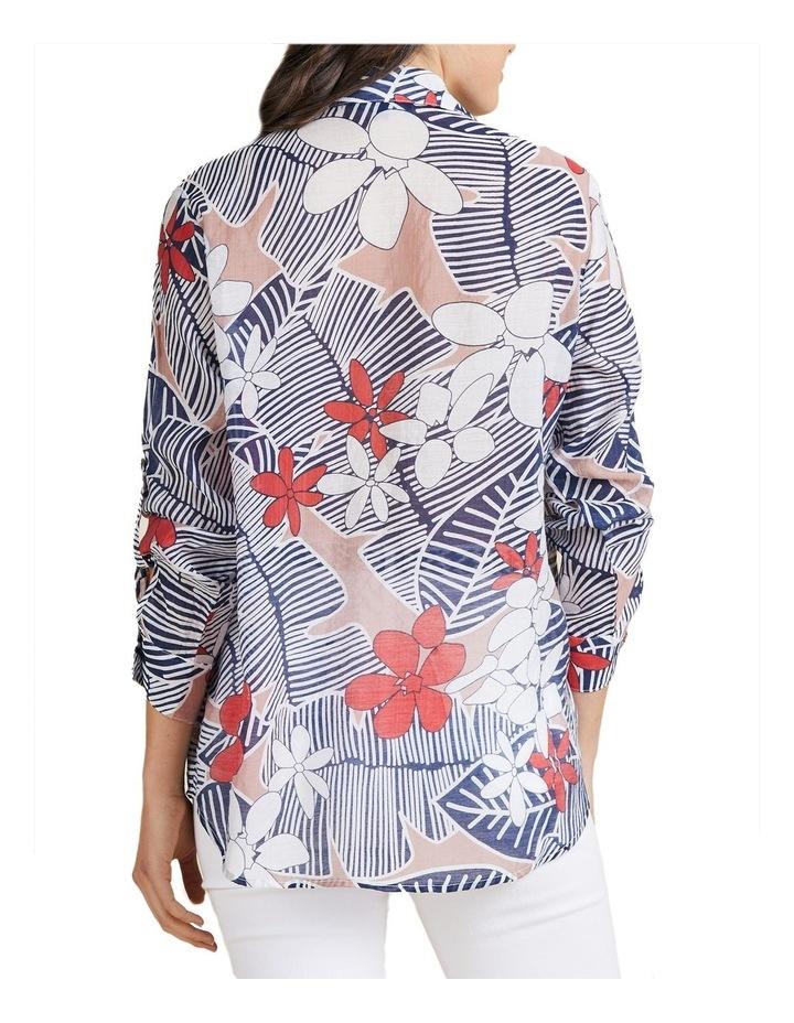 Floral Print Tab Sleeve Shirt image 3