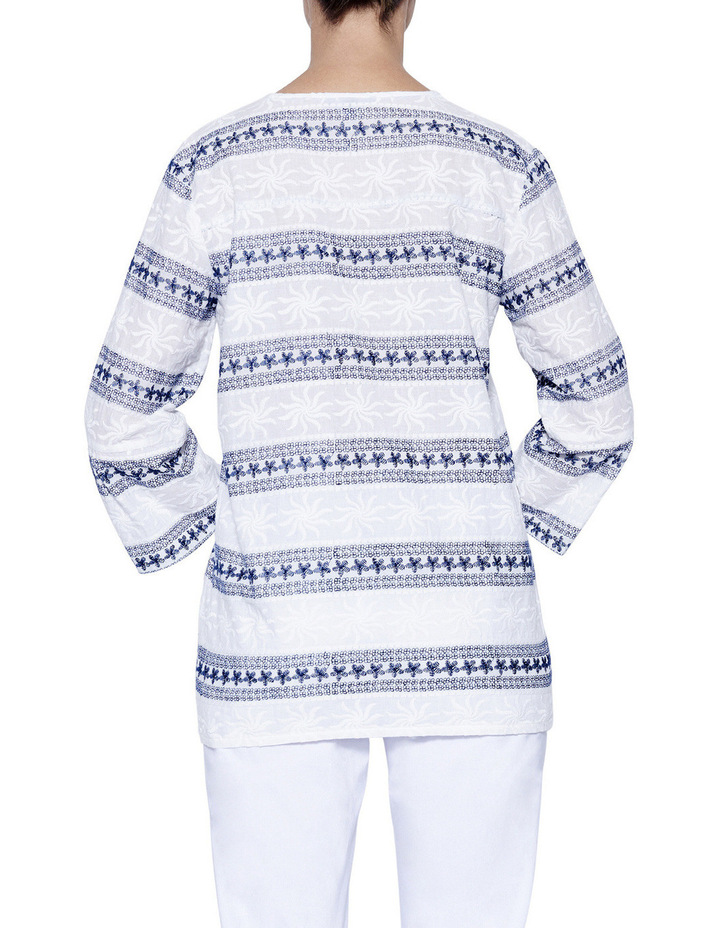 Embroidered Tunic Top image 3