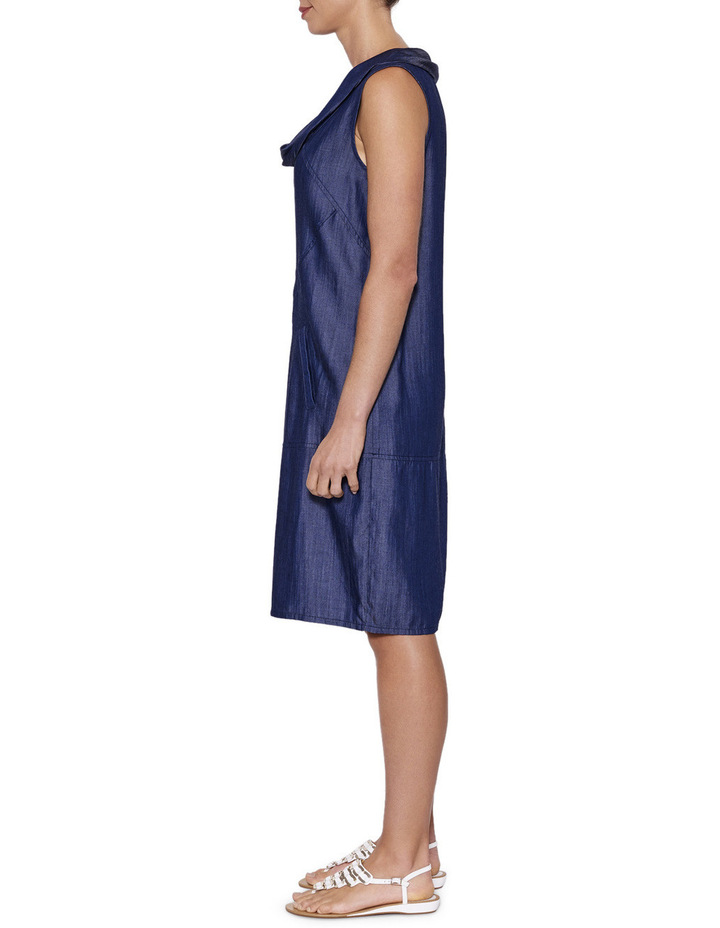 Cowl Neck Tencel Dress image 2