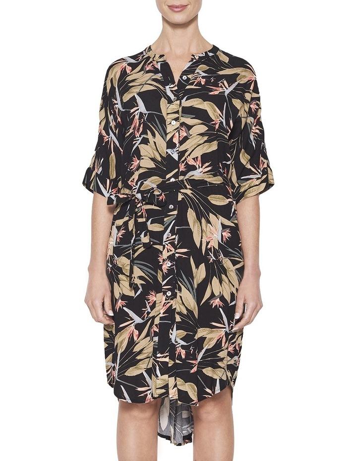 Printed Shirtdress image 1