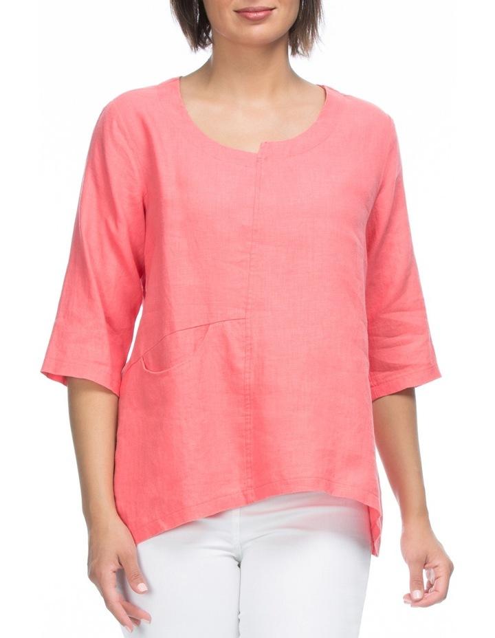3/4 Sleeve Linen Tunic Top image 1