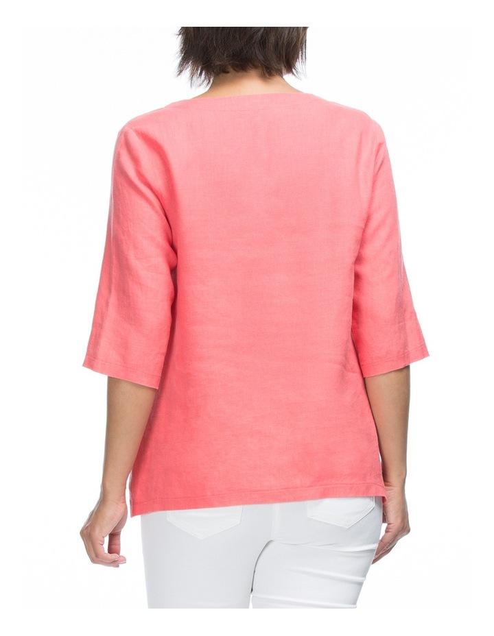 3/4 Sleeve Linen Tunic Top image 2