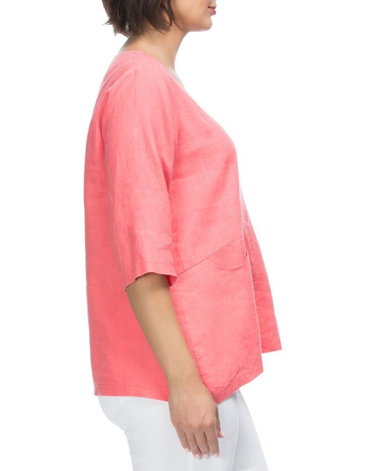 3/4 Sleeve Linen Tunic Top image 3