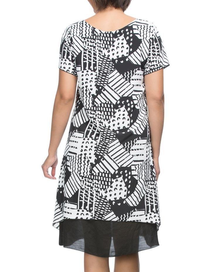 Short Sleeve Print Overlay Dress image 3