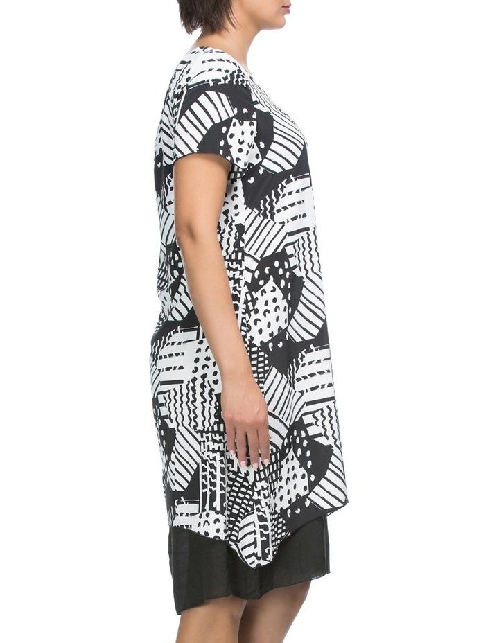Short Sleeve Print Overlay Dress image 4