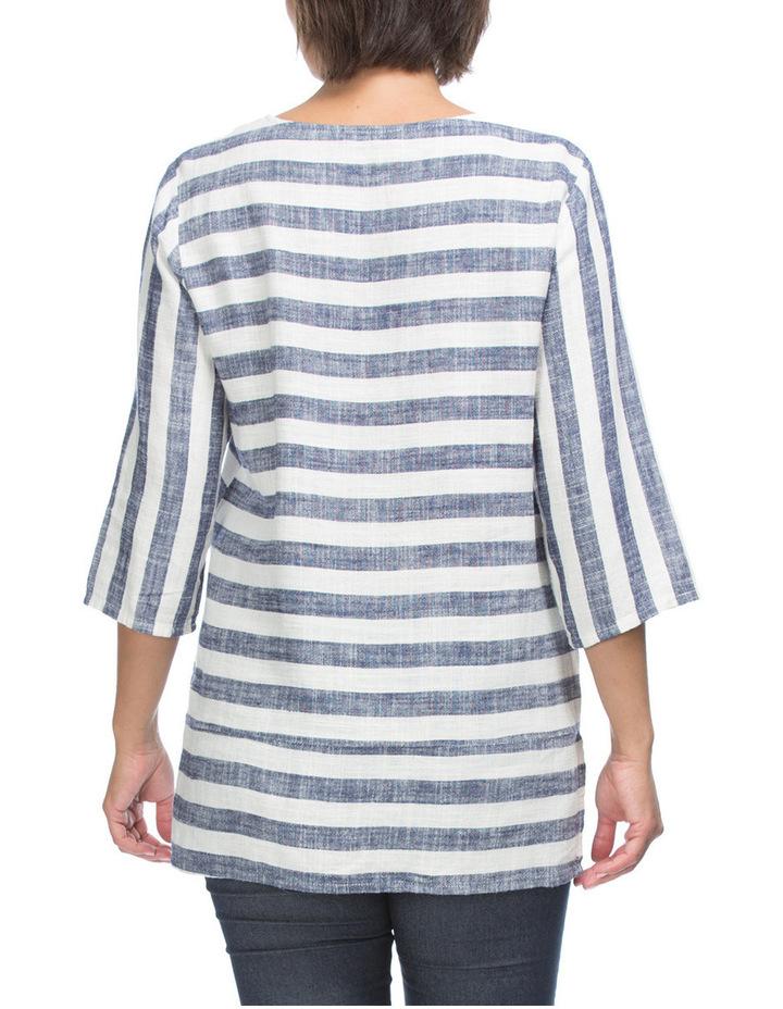 Spliced Stripe 3/4 Sleeve Top image 2