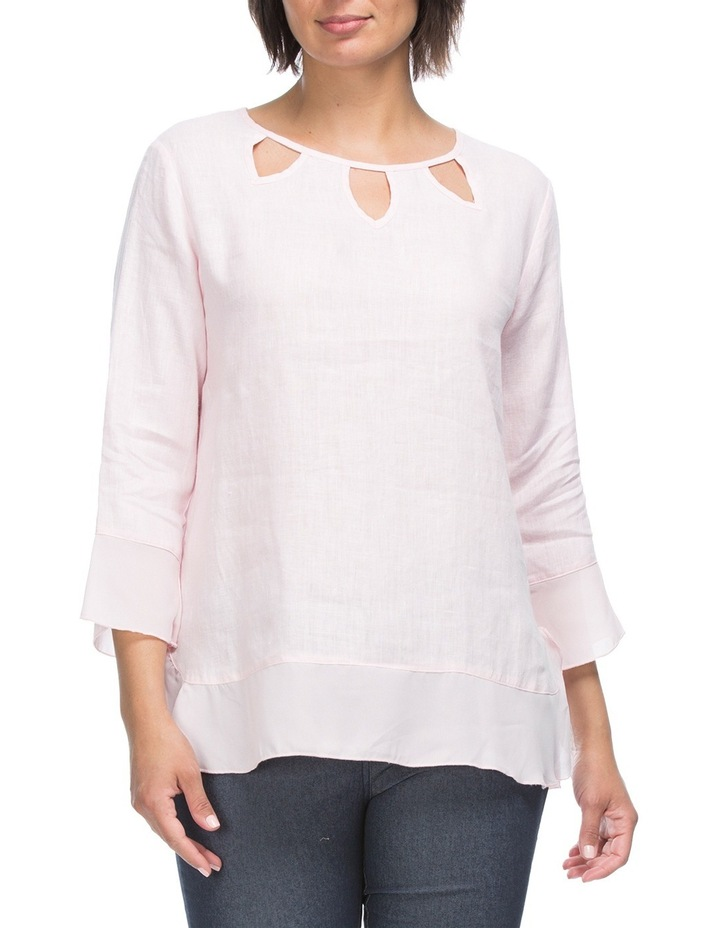 3/4 Sleeve Linen Tunic Top image 1