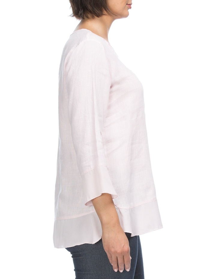 3/4 Sleeve Linen Tunic Top image 2