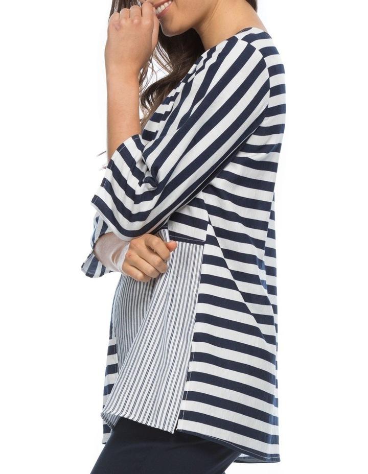 Multi Stripe Spliced Tunic Top image 2