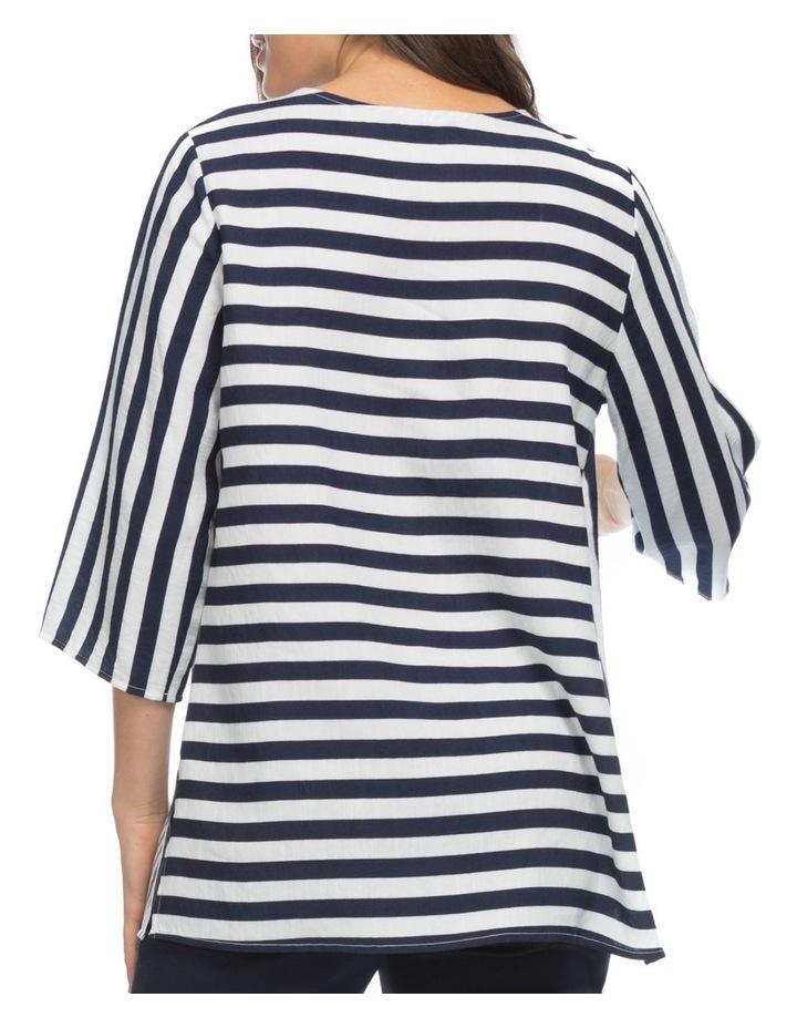 Multi Stripe Spliced Tunic Top image 3