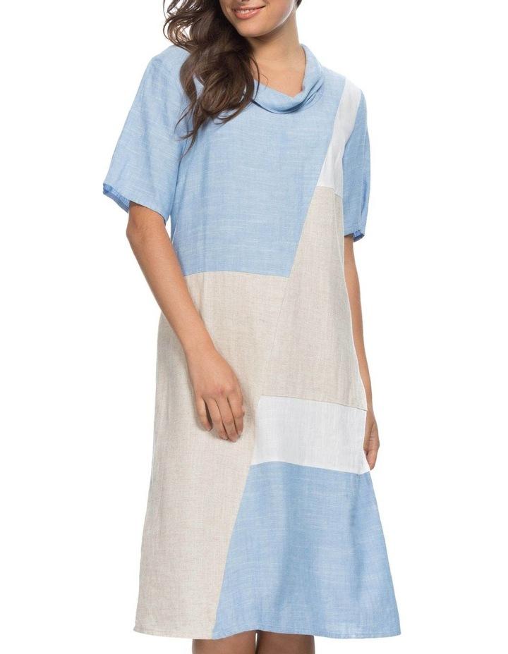 Colour Spliced Cowl Neck Dress image 1