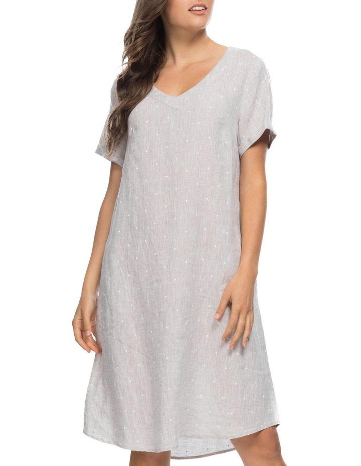 Spot Print V Neck Dress image 1