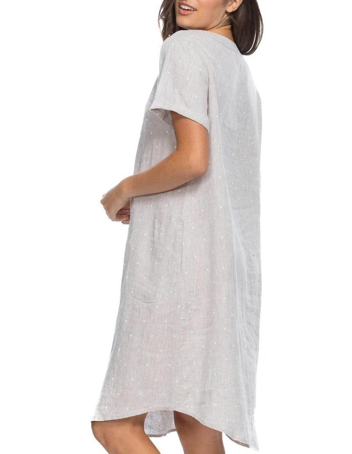 Spot Print V Neck Dress image 2