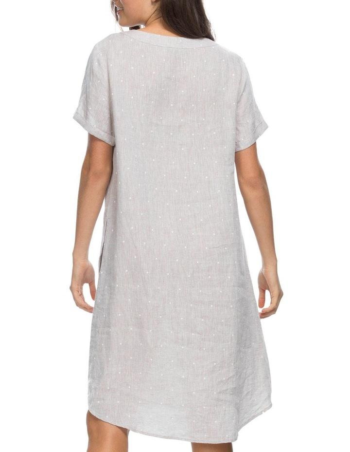Spot Print V Neck Dress image 3
