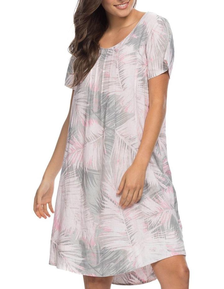 Palm Print Short Sleeve Dress image 1