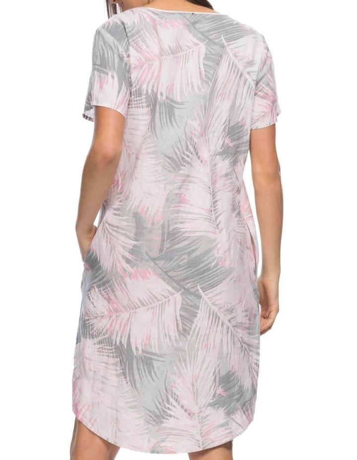 Palm Print Short Sleeve Dress image 3