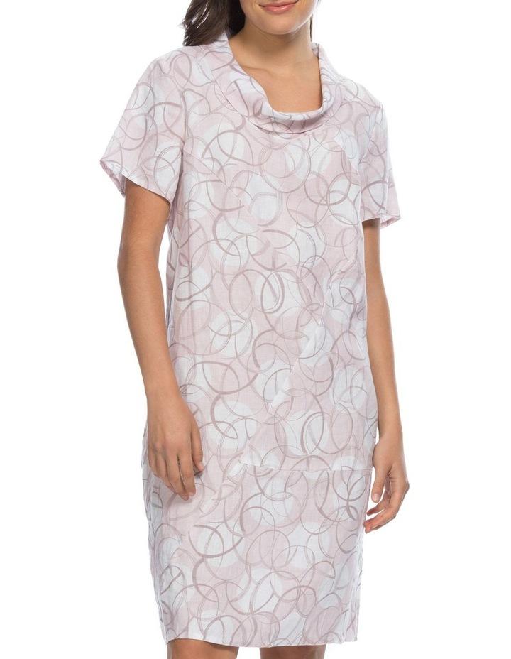 Swirl Print Cowl Neck Dress image 1