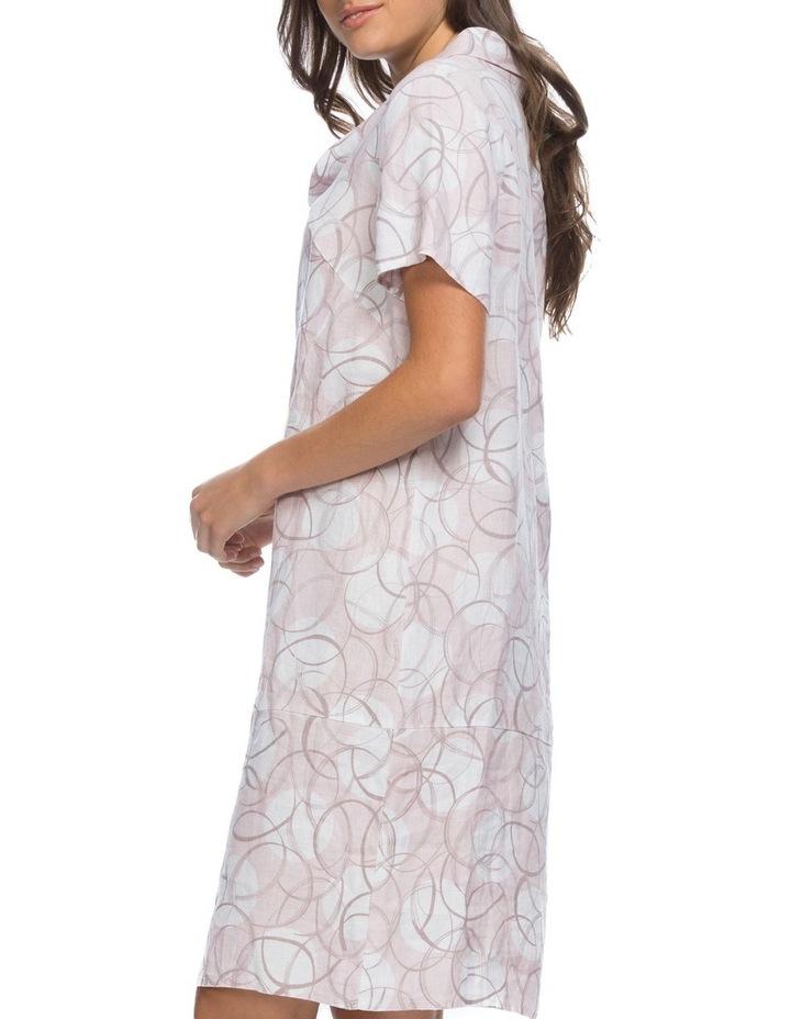 Swirl Print Cowl Neck Dress image 2