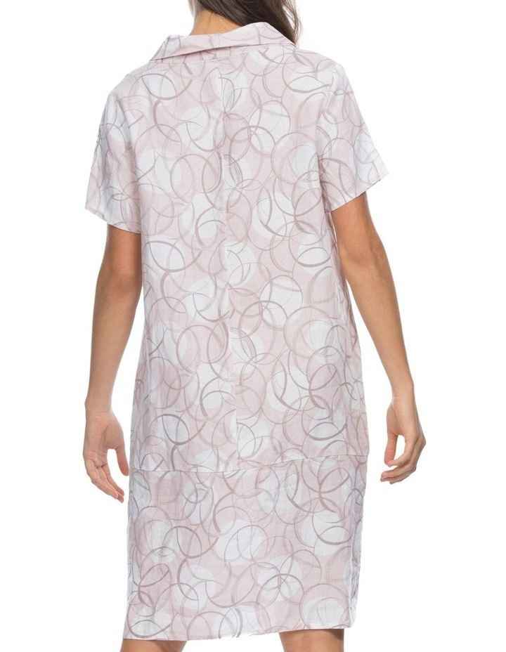 Swirl Print Cowl Neck Dress image 3