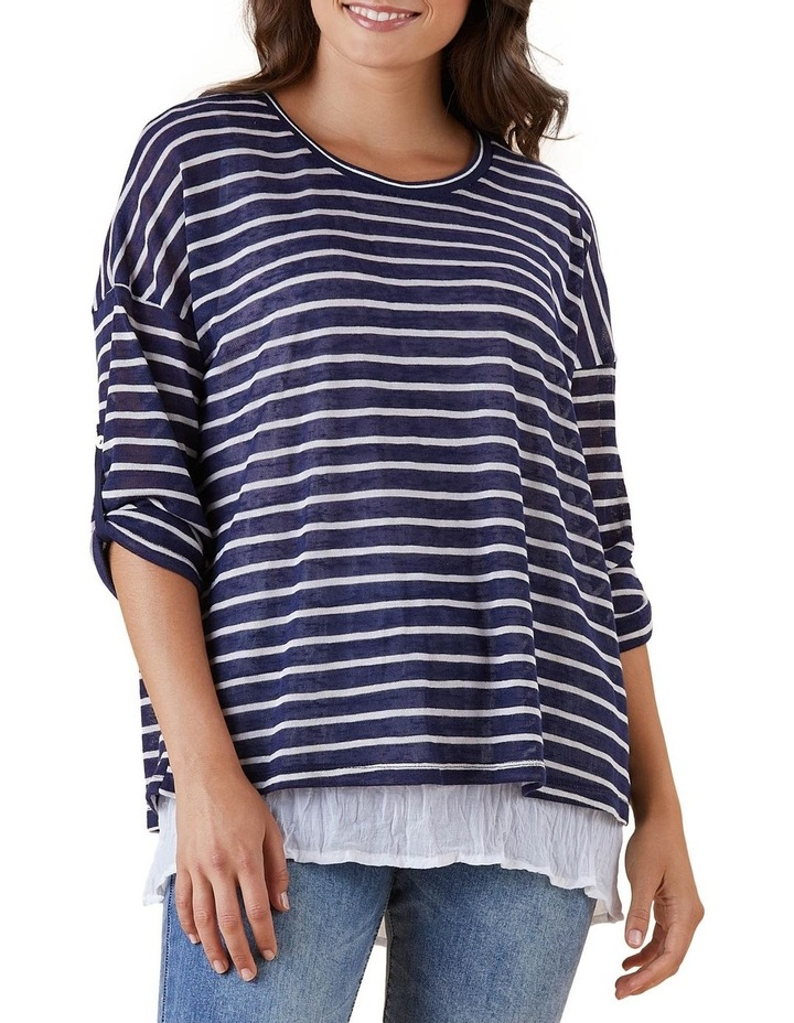 Stripe 2 In 1 Collared Top image 1
