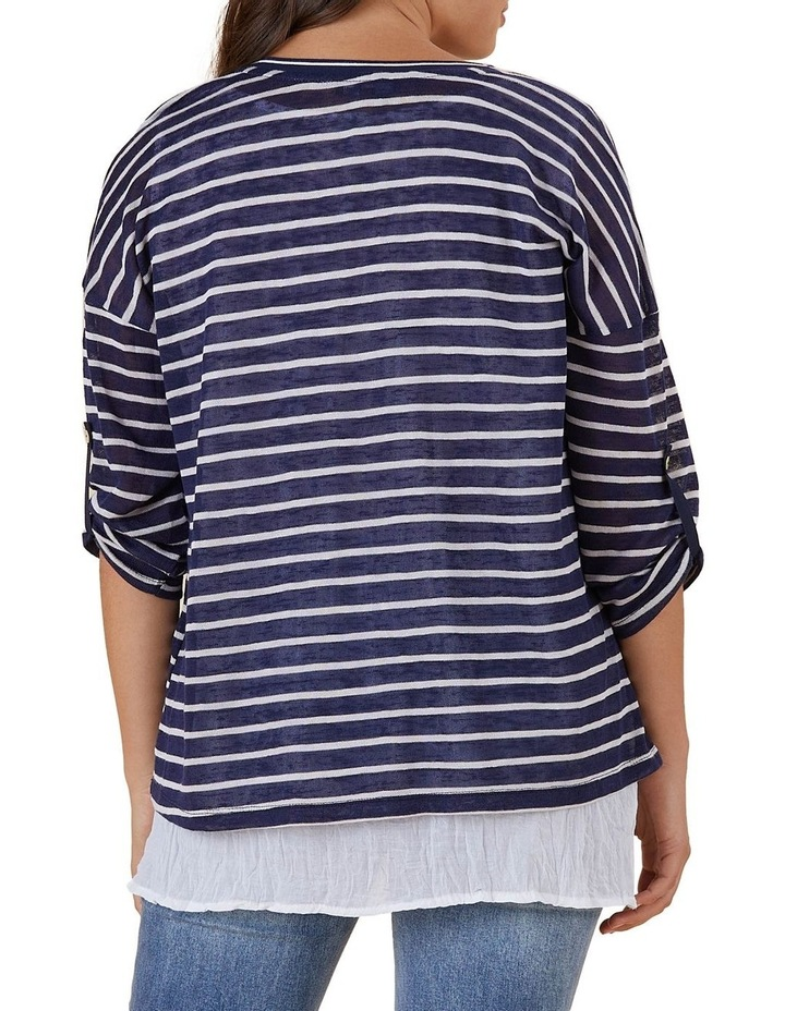 Stripe 2 In 1 Collared Top image 2