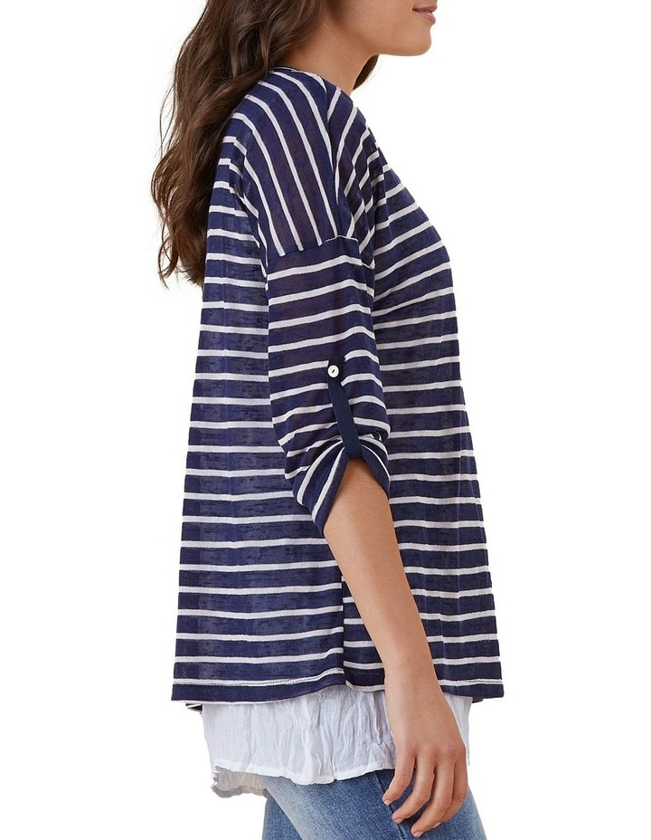 Stripe 2 In 1 Collared Top image 3
