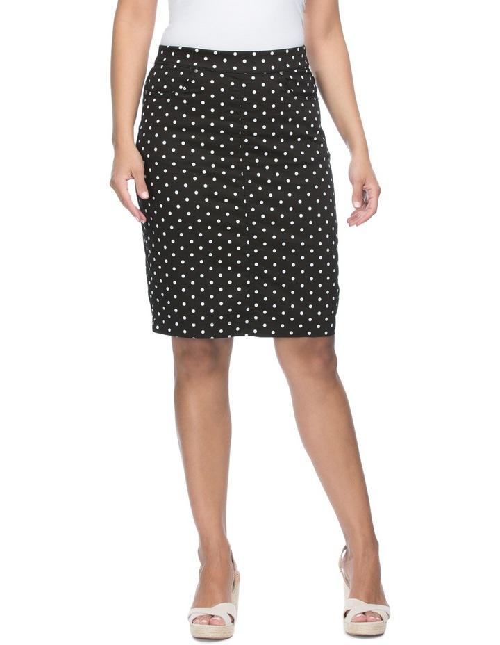 Spot Print Straight Skirt image 1