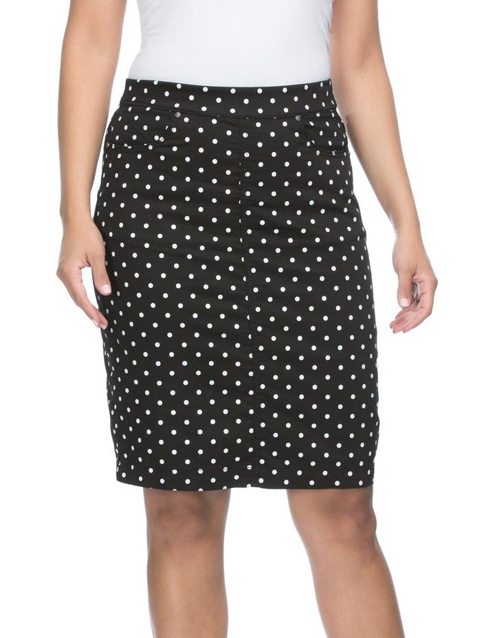 Spot Print Straight Skirt image 2
