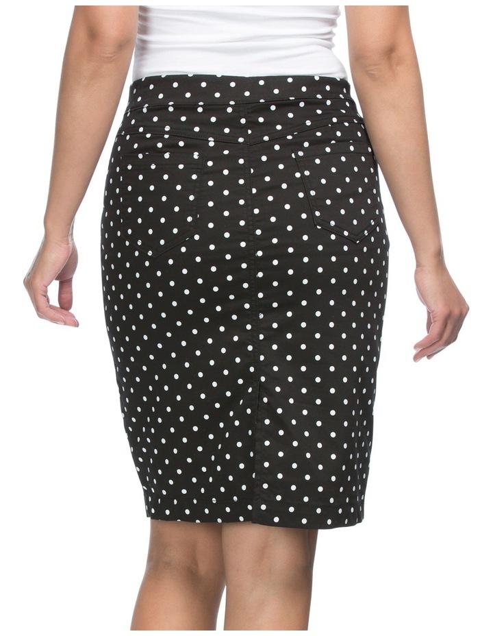 Spot Print Straight Skirt image 3