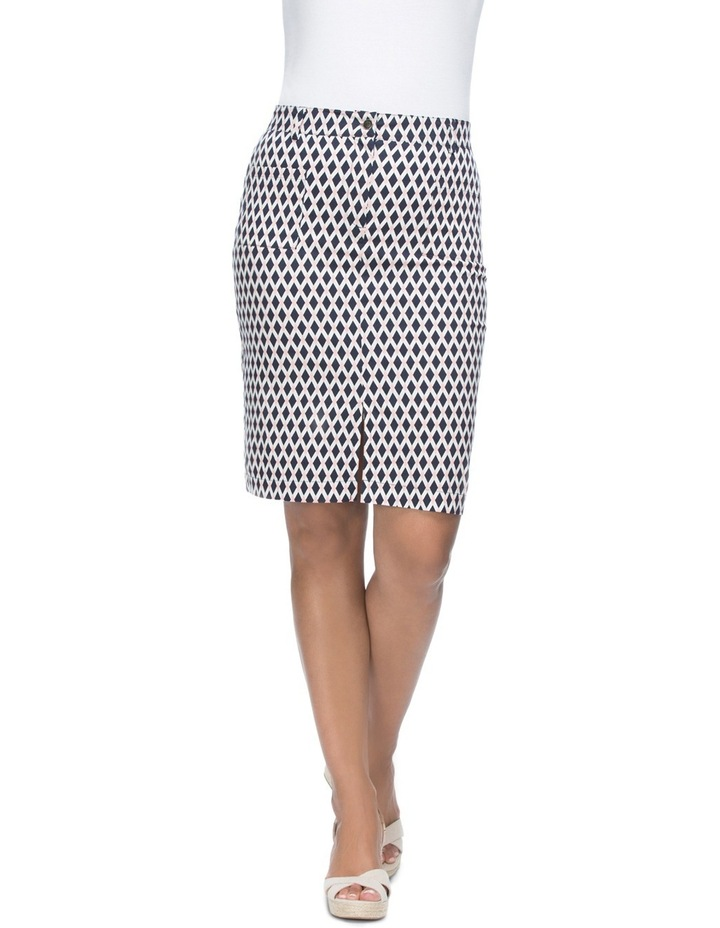 Diamond Print Stretch Skirt image 1