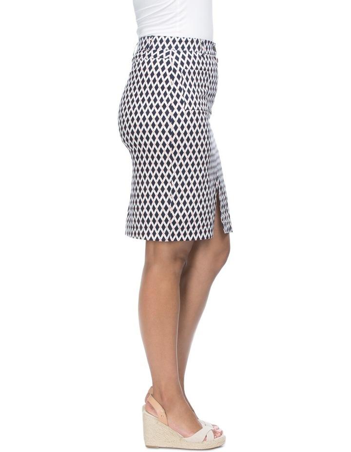Diamond Print Stretch Skirt image 3