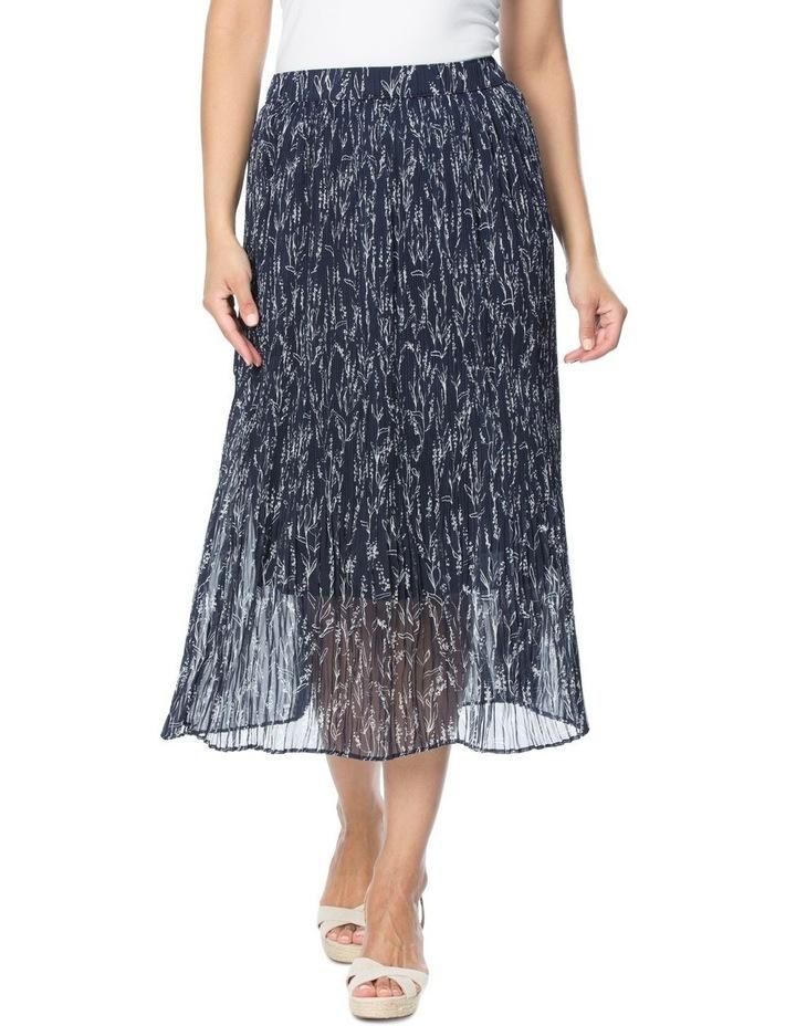 Floral Print Mini Pleat Skirt image 1